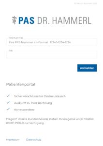 Patientenportal PAS Dr. Hammerl